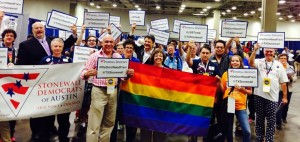 LGBT Democrats at the party's convention in Dallas